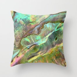Yellow Abalone Throw Pillow