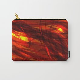 Glowing cosmic orange background made of black red metallic lines. Carry-All Pouch