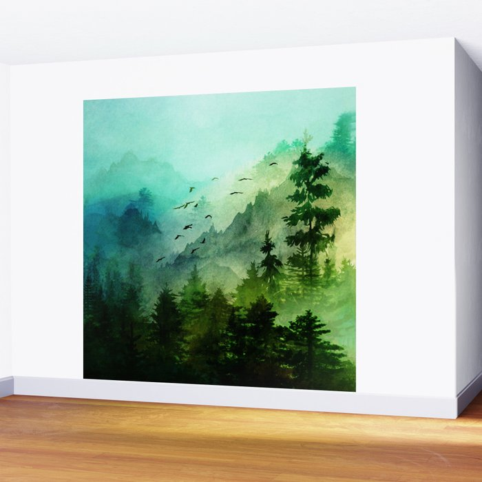 Mountain Morning Wall Mural by nadja1 Society6
