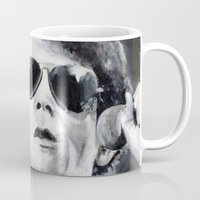 lou reed Mugs featuring Lou Reed by Vikki Sin