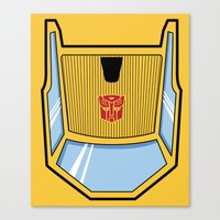 transformers Canvas Prints featuring Transformers - Sunstreaker by CaptainLaserBeam