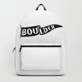 Boulder Colorado Pennant Flag // University College Dorm Room Graphic Design Decor Black & White Backpack
