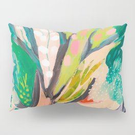 tree and leaf : abstract painting Pillow Sham