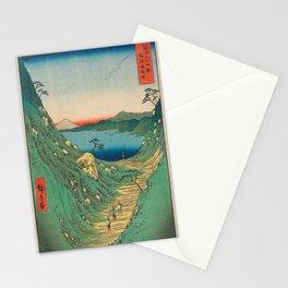 Hiroshige - 36 Views of Mount Fuji (1858) - 29: Shiojiri Pass in Shinano Province Stationery Cards