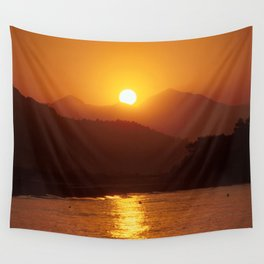 Beautiful Sunset - Red #2 Wall Tapestry