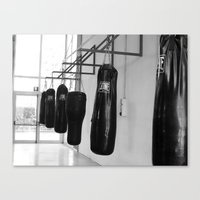 boxing Canvas Prints featuring Boxing by Ashley Lynette Williams