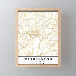 WASHINGTON D.C. DISTRICT OF COLUMBIA CITY STREET MAP ART Framed Mini Art Print