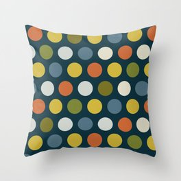 Dots on blue ground Throw Pillow