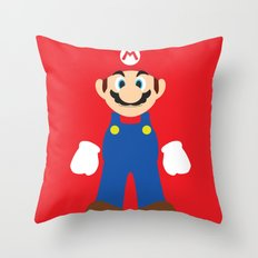 Mario - Minimalist - Nintendo Throw Pillow