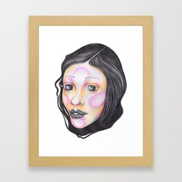 Blue and Purple with Wrapped Hair  Framed Art Print