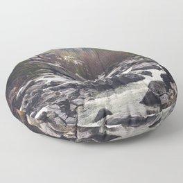 Morning Mountain Escape - Nature Photography Floor Pillow