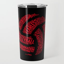 Red Volleyball Wordcloud - Gift Travel Mug