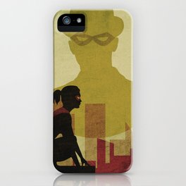 Who is the man in the bowler? Superheroes SF iPhone Case