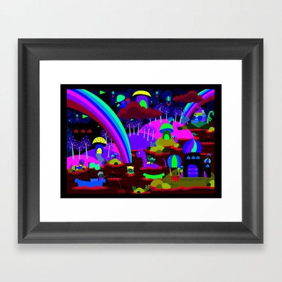 rainbow land Framed Art Print