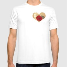 Romance Novel White MEDIUM Mens Fitted Tee