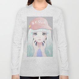 Zazi-White Long Sleeve T-shirt