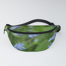 Myosotis sylvatica, wood forget me not wild meadow plant Fanny Pack