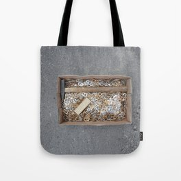 can tips in a cardstock box and tools, warsaw Tote Bag