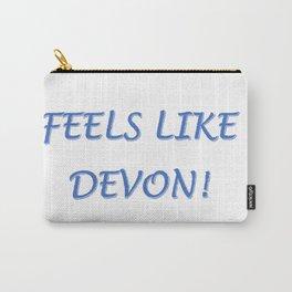 FEELS LIKE DEVON!  BLUE LOGO Carry-All Pouch