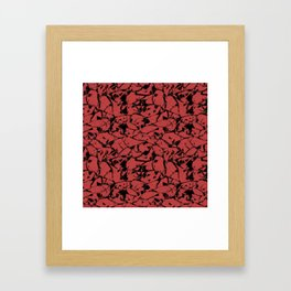 Abstract spotted pattern Framed Art Print