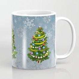 Christmas tree & snow Coffee Mug