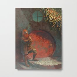 Berned Metal Print