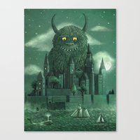 green Canvas Prints featuring Age of the Giants  by Terry Fan