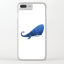 Sperm whale Clear iPhone Case