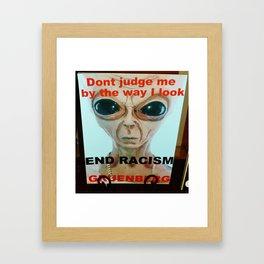 """""""END RACISM"""" by Robert Gruenberg Framed Art Print"""