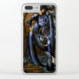 "Edward Burne-Jones ""The Doom Fulfilled (Perseus Slaying the Sea Serpent)"" Clear iPhone Case"