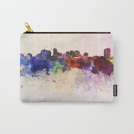 London ON skyline in watercolor background Carry-All Pouch