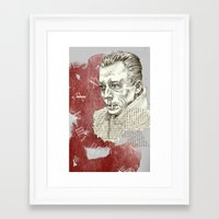 camus Framed Art Prints featuring Camus - The Stranger by Nina Palumbo Illustration