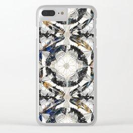 Cosmic Mandala Pattern Clear iPhone Case