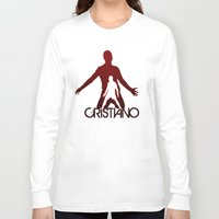 ronaldo Long Sleeve T-shirts featuring Cristiano Ronaldo by Sport_Designs