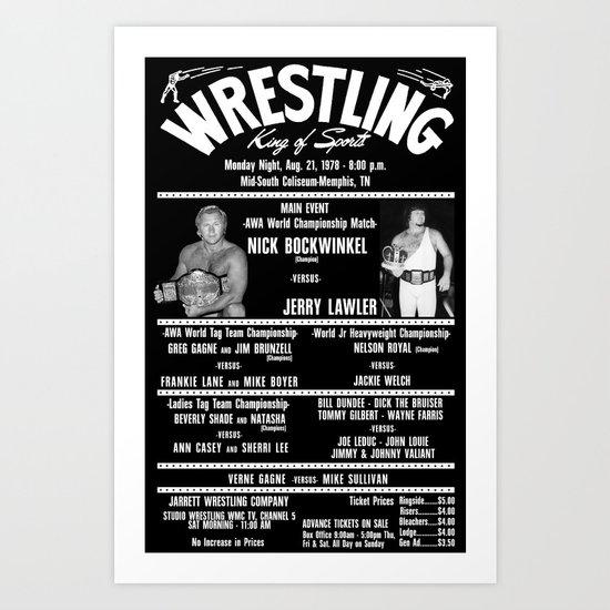 #3-B Memphis Wrestling Window Card Art Print
