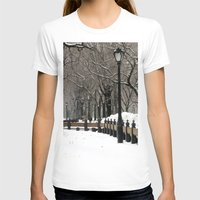 """central park T-shirts featuring """"Central Park in Winter"""" by ColorWorkStudio"""