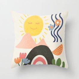 Abstract Summer 7 Throw Pillow