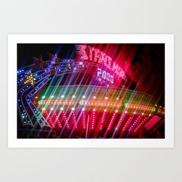 All Aboard the Starship carnival ride Art Print