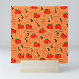 Happy Harvest Acorns and Pumpkins Mini Art Print