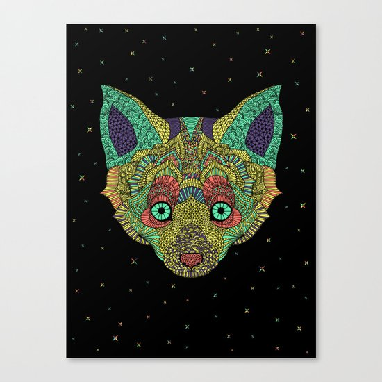 Intergalactic Fox Canvas Print
