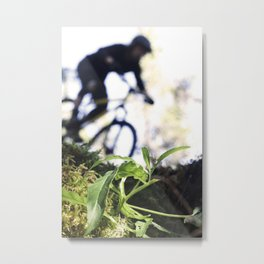 Whistler Mountain Biker Metal Print