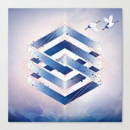 Floating Geometry :: Winter Hexagon Canvas Print
