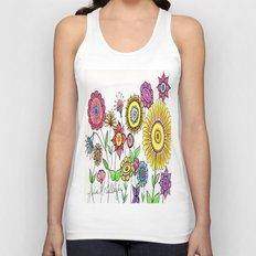 Bright Flowers Unisex Tank Top