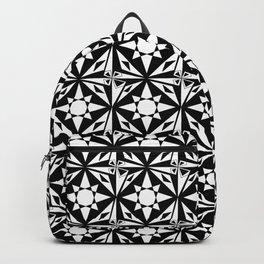 black and white symetric patterns 18- bw, mandala,geometric,rosace,harmony,star,symmetry Backpack