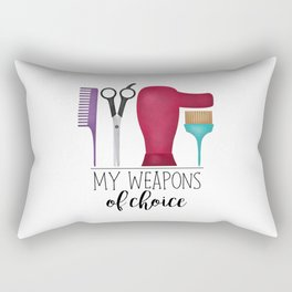 My Weapons Of Choice - Hairdresser Rectangular Pillow