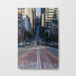 San Francisco Streets Metal Print
