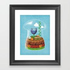 Toadstool Terrarium Framed Art Print