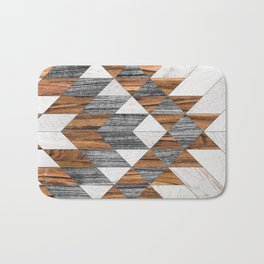 Urban Tribal Pattern 12 - Aztec - Wood Bath Mat