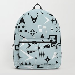 Blue Mid Century Modern Print Backpack