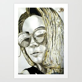 BLACK WHITE AND A LITTLE GOLD COLLECTION Art Print